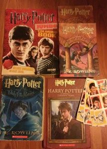 Harry potter books,sticker& freebies! Lot